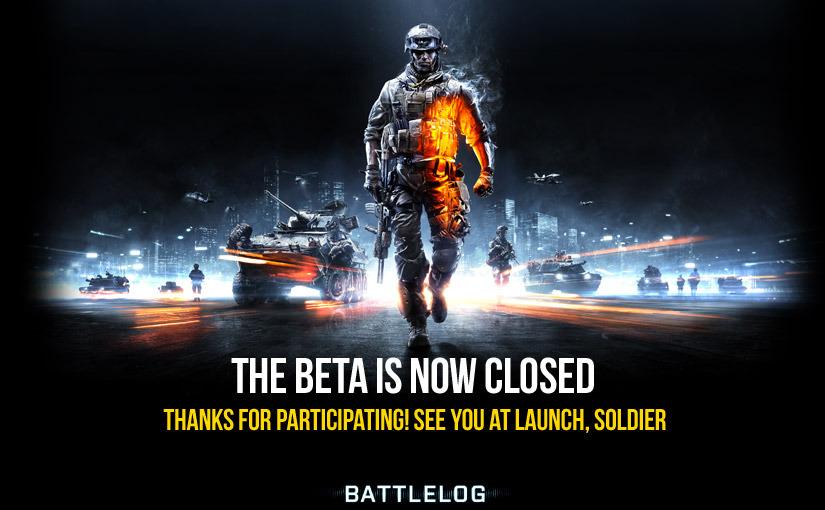 Бета испытание игры Battlefield 3 окончено!