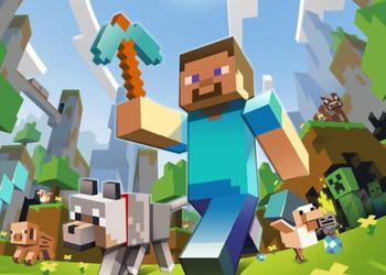 Кусок  бокс-арта Minecraft