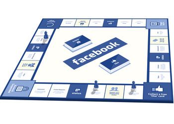Концепт-арт Facbook: The Board Game