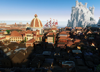 Снимок экрана материка Вестерос в Minecraft