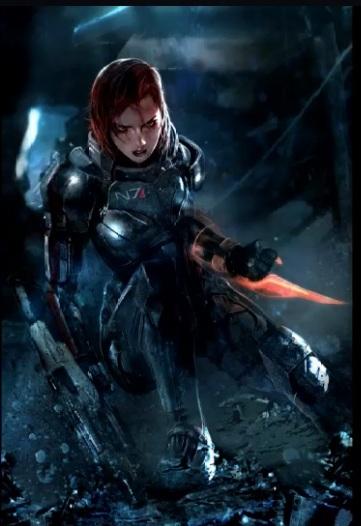 Женская модификация Шепарда в игре Mass Effect 3 будет красной