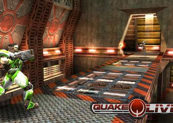 Снимок экрана браузерного шутера Quake Live