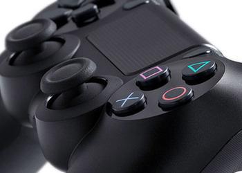 Кусок фото контроллера PlayStation 4