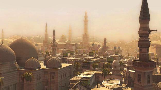 Датский телевизионный канал Тв2 предоставил снимок экрана из игры Assassin'с Creed за истинную фото города Сирии