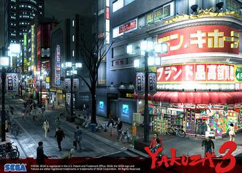 Снимок экрана Yakuza 3