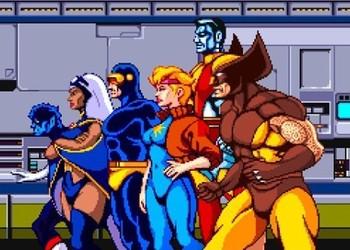 Скриншот из оригинальной X-Men:The Arcade Game 1992 года