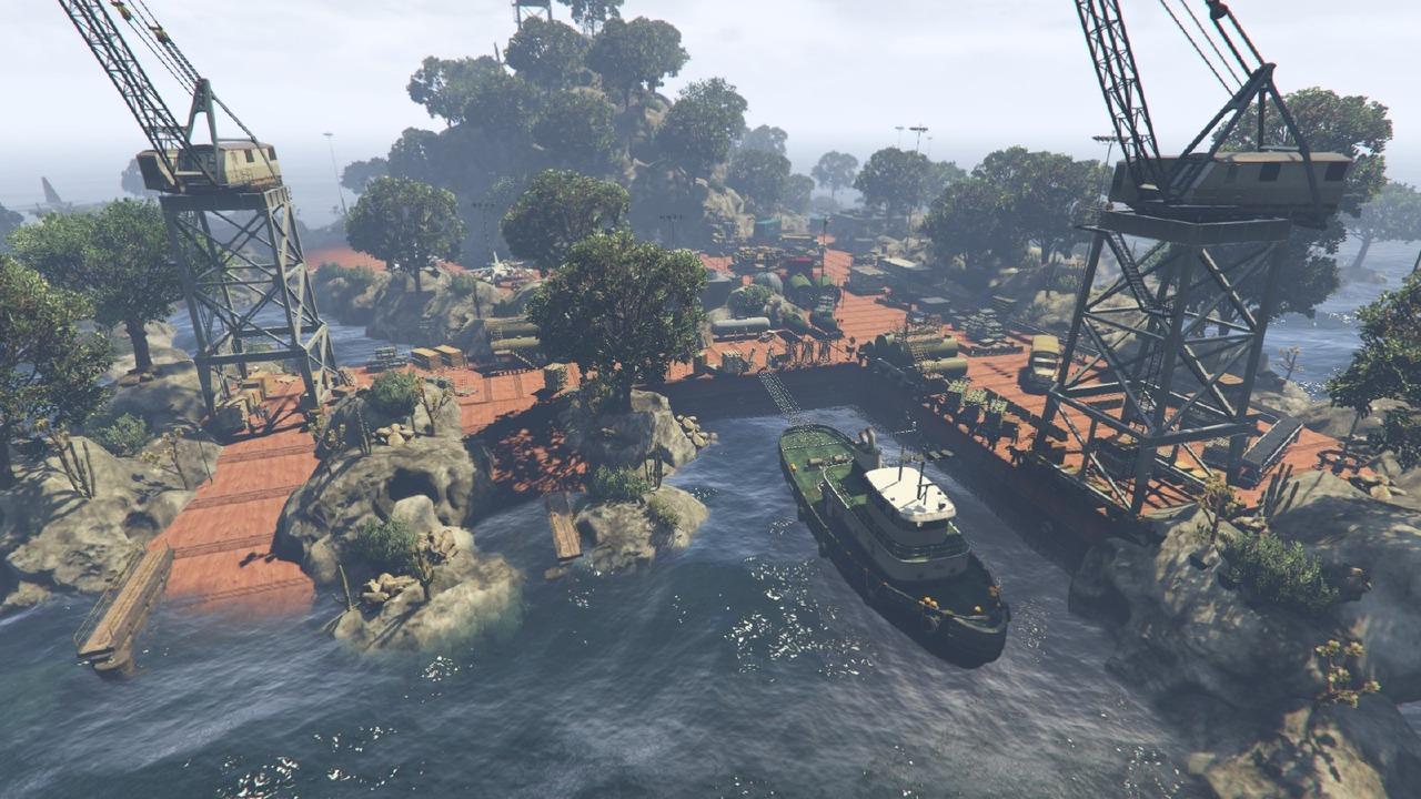 В игре GTA V обнаружили секретную военную базу на ... Док Геймеры