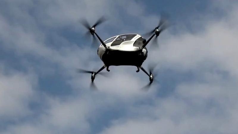 ВКитайской народной республике  провели тестирования  летающего беспилотного такси