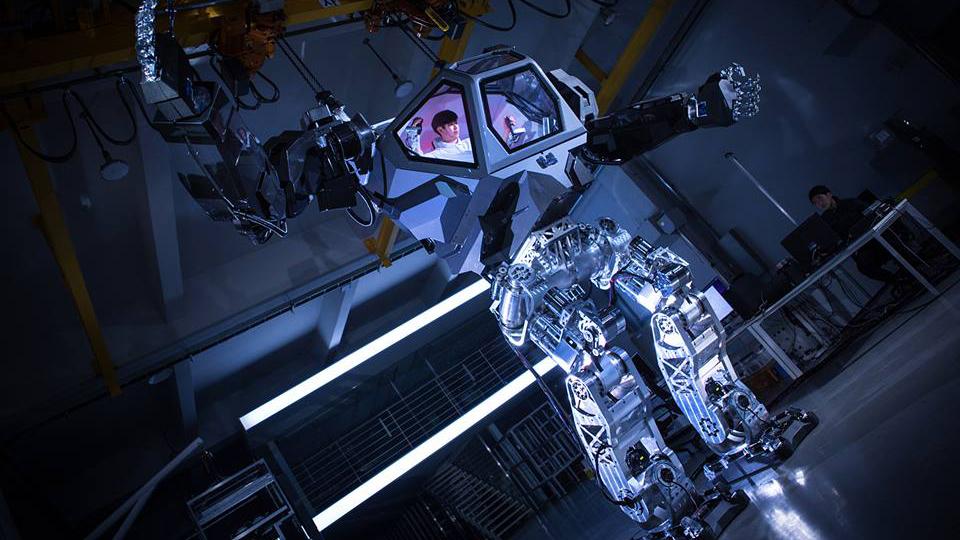 ВЮжной Корее создали гигантского робота-шагохода