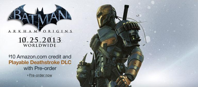 Дэзстроук будет в роли игрового персонажа в добавлении к Batman: Arkham Origins