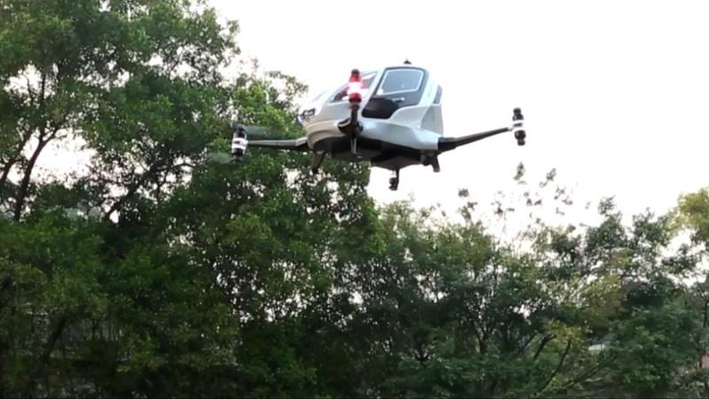 Появились первые кадры тестирования беспилотного авиатакси