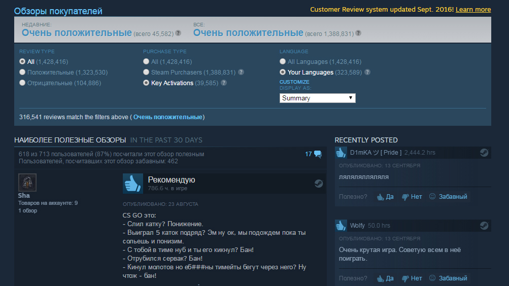 Valve ударила по«накрутке» оценок вSteam