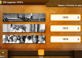 Скриншот Championship Manager Legends: 1970's