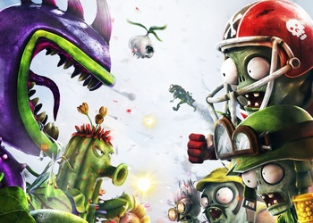 Отрывок бокс-арта Plants vs Zombies: Garden Warfare