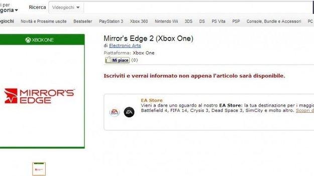 Супермаркет Amazon вторично показал в листинге свежую игру - Mirror'с Эдж 2