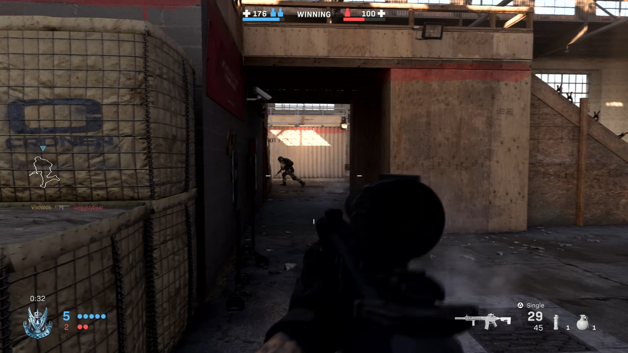 Геймплей многопользовательского режима Gunfight вCall ofDuty: Modern Warfare