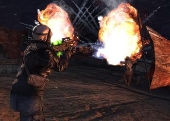 Скриншот ранней версии Borderlands