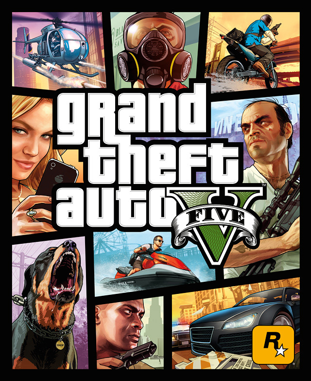 Rockstar официально продемонстрировала бокс-арт игры GTA V