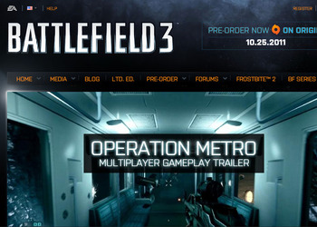 Скриншот официального сайта Battlefield 3
