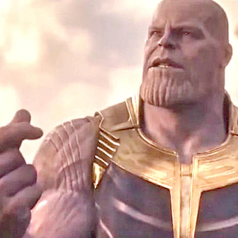 Танос из«Мстителей 4» снова щелкнул пальцами навидео