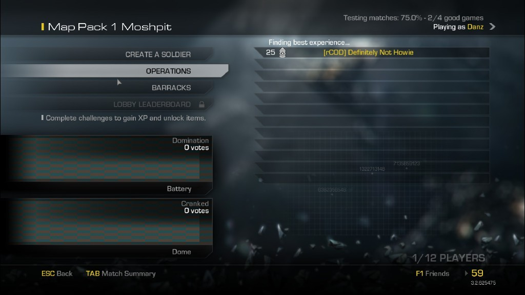 call of duty ghosts matchmaking Home matchmaking  matchmaking new match find new people to play your favourite games with latest matches  call of duty: black ops 4 bluntmanxchronic, oct 12, 2018 at 3:10 pm looking for good players with 2-4 ekia to grind for high level stats game mode control my ekia is 450 must get 25-30 ekia per game.