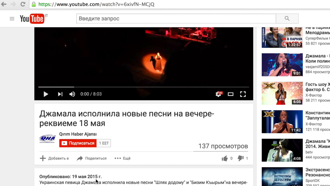 Оргкомитет «Евровидения» непризнал нарушения Джамалой правил конкурса