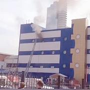 Видео пожара ТЦ «Персей для детей» в Москве на 4 этаже