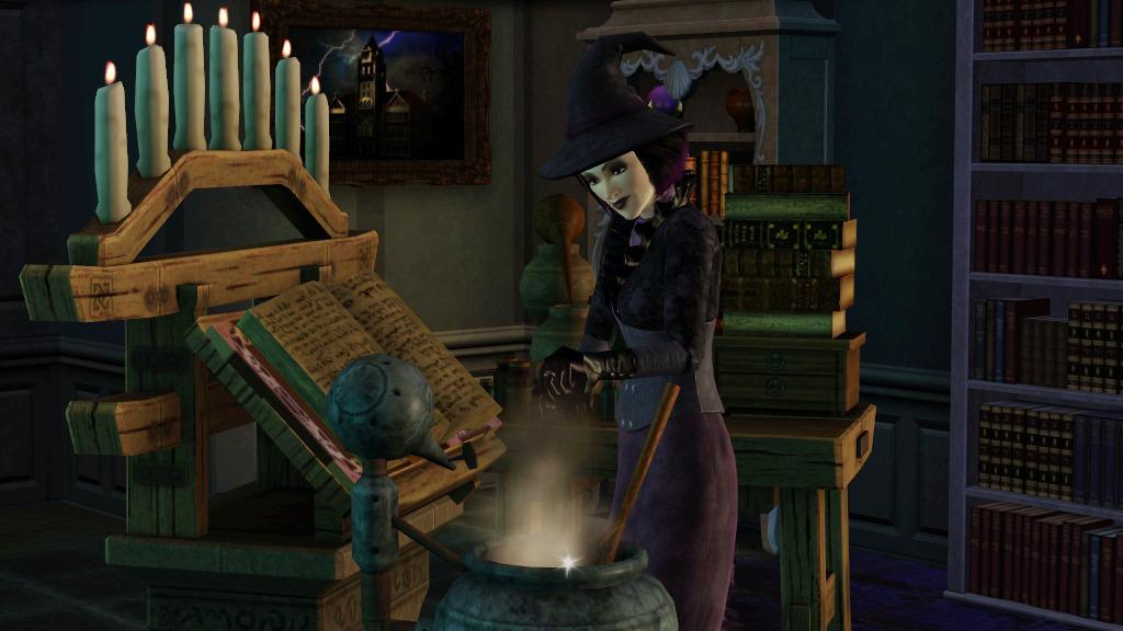 Симс 3 как создать ведьму