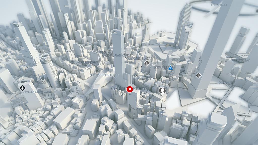 К игре Mirror's Edge: Catalyst выпущена интерактивная карта