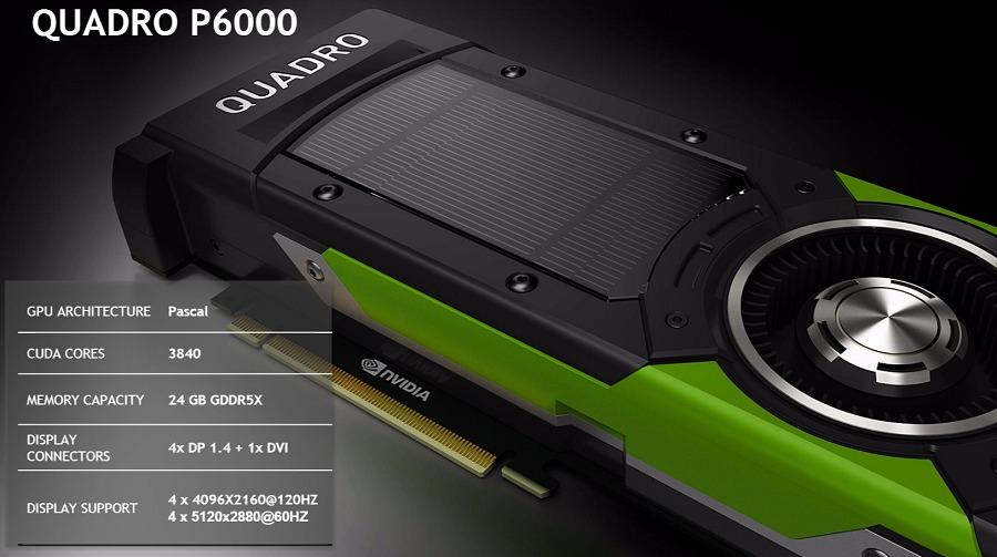 Представлены профессиональные ускорители Nvidia Quadro P5000 иP6000