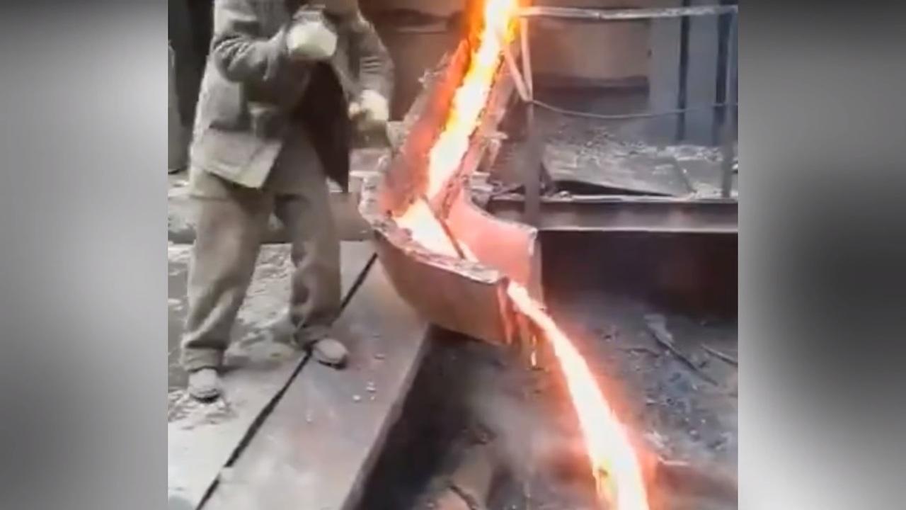 Расплавленный металл своими руками 139