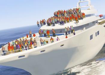 Игроки GTA V проверили, смогут ли 100 человек потопить яхту, в новом видео