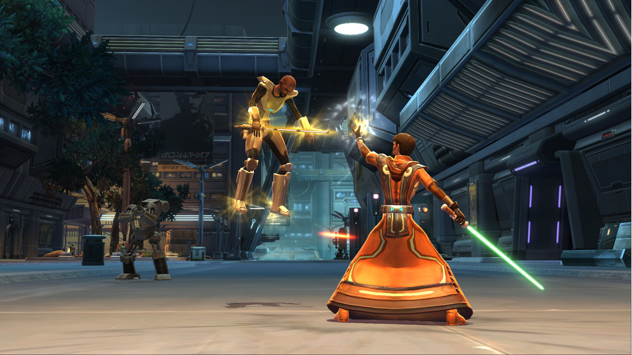 an analysis of the playing of the video game star wars the old republic Play star wars: the old republic and be the hero of your own star wars saga in a story-driven massively-multiplayer online game from bioware and lucasarts explore an age thousands of years before the rise of darth vader when war between the galactic republic and the sith empire divides the galaxy.