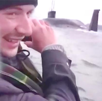 Рыболовы покрыли матом всплывшую перед ихносом подводную лодку